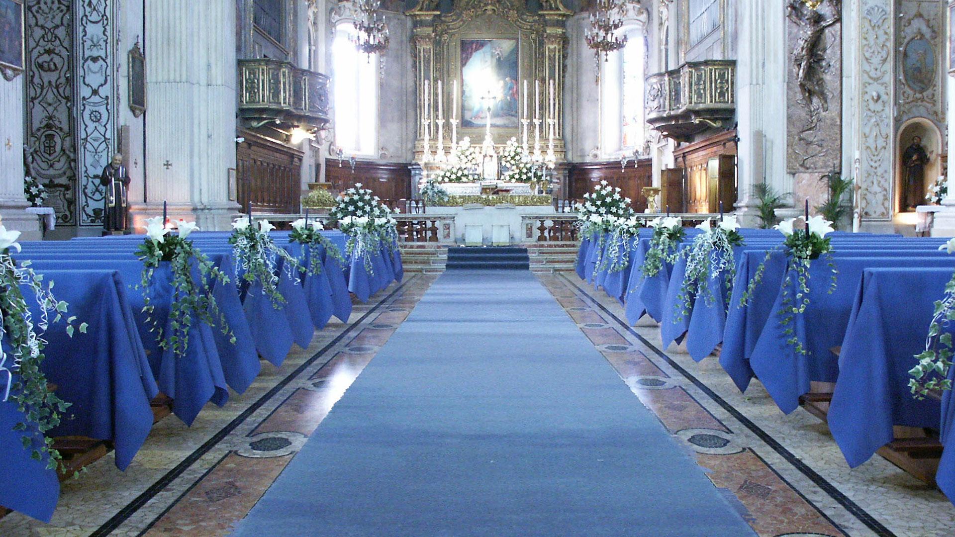 addobbo matrimoniale in chiesa